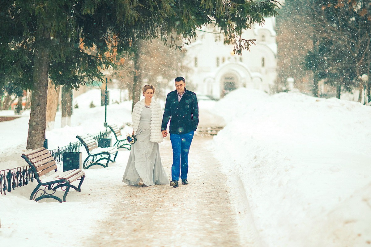 свадьба зимой в щелково